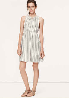 Striped Tie Neck Dress