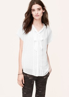 Swiss Dot Tie Neck Blouse