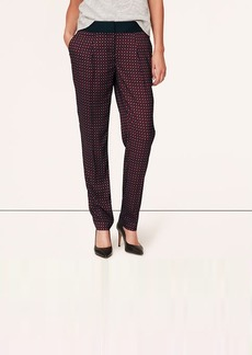 Tall Burgundy Deco Fluid Ankle Pants in Marisa Fit