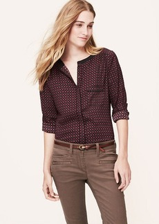Tall Burgundy Deco Piped Blouse