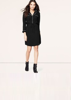 Tall Piped Shirtdress