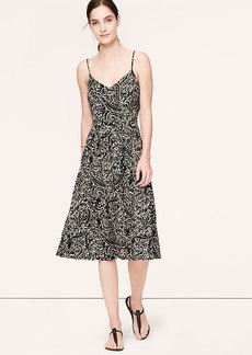 Tall Vine Print Mid-Length Cami Dress