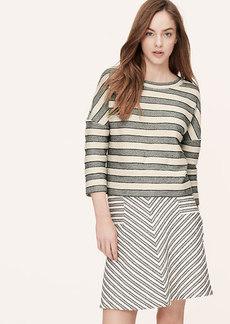Tweed Stripe Sweatshirt