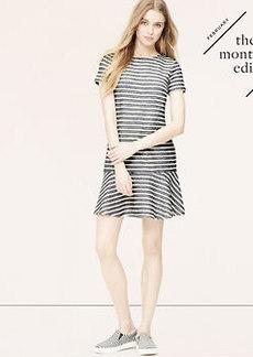Tweed Stripe Tennis Dress