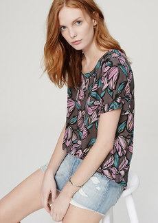 Wild Orchid Shirred Back Tee