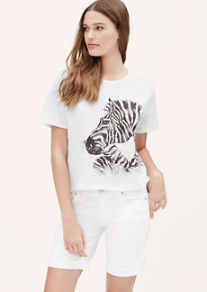 Zebra Cropped Vintage Broken In Tee