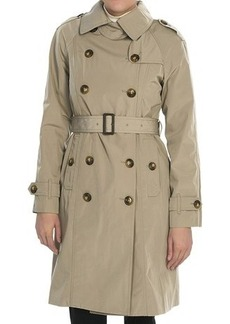 London Fog Double-Breasted Sateen Coat - Removable Liner (For Women)
