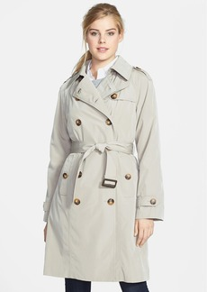 London Fog Double Breasted Trench Coat with Detachable Liner