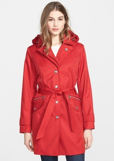 London Fog Double Collar Trench Coat with Detachable Hood (Regular & Petite)