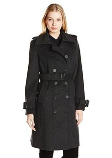 London Fog Heritage Women's Double Breasted Wool Trench Coat