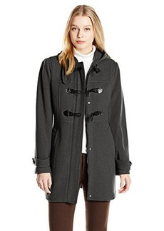London Fog Heritage Women's Wool Duffle Coat with Hood