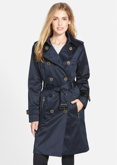 London Fog Long Double Breasted Trench Coat (Regular & Petite)