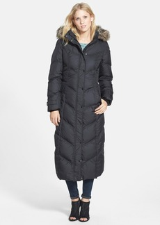 London Fog Long Down & Feather Fill Coat with Faux Fur (Regular & Petite) (Online Only)