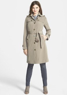 London Fog Quilt Flap Trench Coat with Detachable Liner (Regular & Petite) (Online Only)