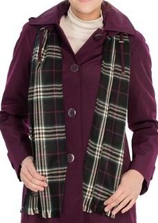 London Fog SB Faux-Silk Topper Coat - Scarf (For Women)