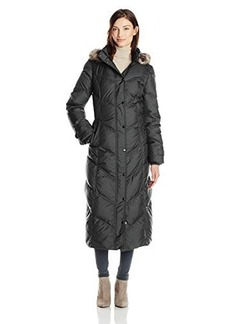 London Fog Women's Chevron Maxi Down Coat,