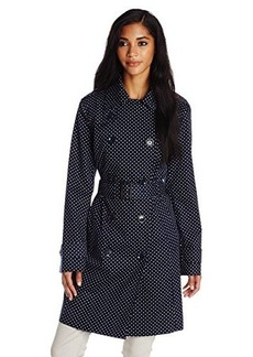 London Fog Women's Double-Breasted Classic Trench Coat