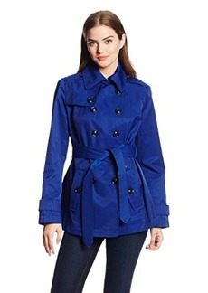 London Fog Women's Short Double-Breasted Trench Coat