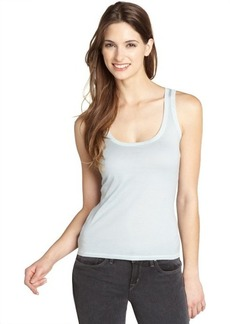 Loro Piana aqua blue sleeveless cotton tank