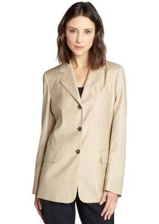 Loro Piana beige wool classic 'Giacca' blazer