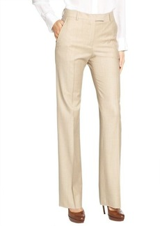 Loro Piana beige wool 'Luke Ari' oxford wide leg pants