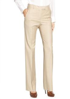 Loro Piana beige wool 'Luke Ari' oxford wide leg pants