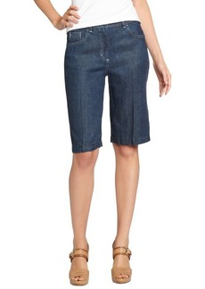 Loro Piana blue cotton bermuda denim shorts