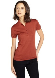 Loro Piana burgundy stretch cotton polo shirt