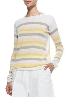 Loro Piana Cashmere Striped & Colorblock Multicolor Sweater