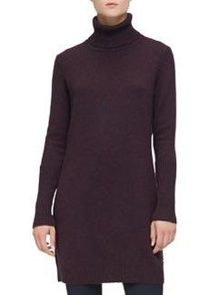 Loro Piana Cashmere Turtleneck Sweaterdress, Violet