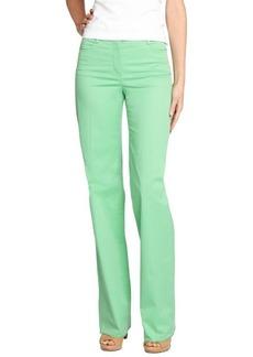 Loro Piana green cotton wide leg 'Eleven Mambo' pants