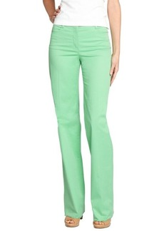Loro Piana green cotton wide leg 'Eleven Mambo' pants