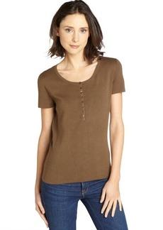 Loro Piana green stretch 'Serrafino' cotton polo shirt
