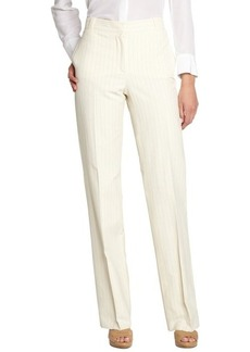 Loro Piana ivory and orange striped 'Dover Barbados' cotton blend pants