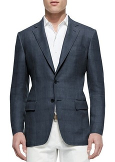 Loro Piana Madrid Check Denim Sport Jacket