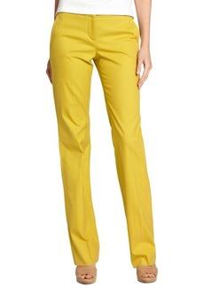 Loro Piana mustard yellow cotton 'Dafne Caracas' straight leg pants