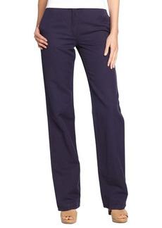 Loro Piana purple cotton linen 'Philadelphia' cotton line wide leg pants