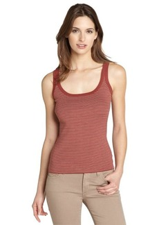 Loro Piana red cotton jersey striped scoop neck tank