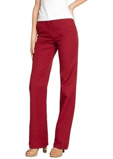 Loro Piana red cotton linen 'Philadelphia' cotton line wide leg pants