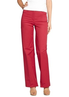 Loro Piana red cotton wide leg 'Eleven Mambo' pants