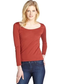 Loro Piana red 'Girocollo MM Havana' scoop neck cotton top