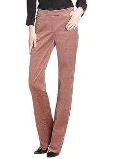 Loro Piana rust brown 'Annet 2000' stretch corduroy pants