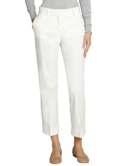 Loro Piana white cotton 'Menphis' cropped pants