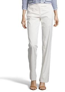 Loro Piana white 'Nico Las Vegas' wide leg cotton blend pants