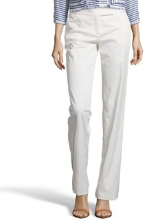Loro Piana white 'Nico Las Vegas' wide leg cotton blend pants