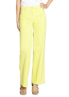 Loro Piana yellow stretch cotton 'Eleven Mambo' wide leg trousers
