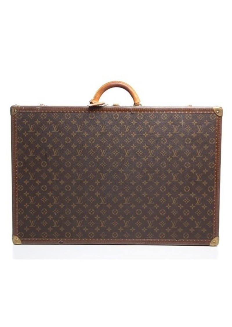 louis vuitton pre owned louis vuitton monogram canvas alzer 70 trunk sizes l shop it to me. Black Bedroom Furniture Sets. Home Design Ideas