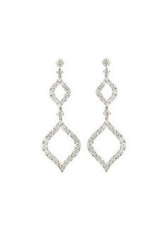 Luca Carati 18k White Gold Diamond Double-Drop Earrings