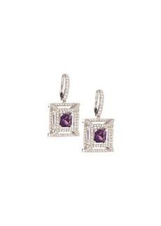 Luca Carati Amethyst & Diamond Drop Earrings