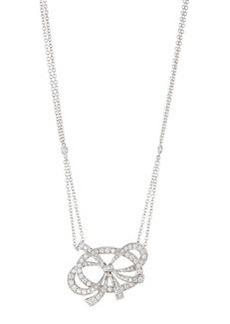 Luca Carati Bow Pendant Necklace with Diamonds
